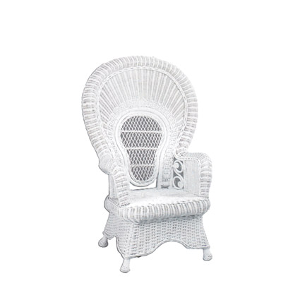 White Wicker Baby Shower Chair