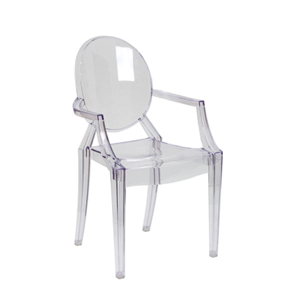 Ghost Chair with Arms - AC Party Rentals