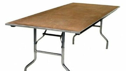 8' x 48 King Table - AC Party Rentals