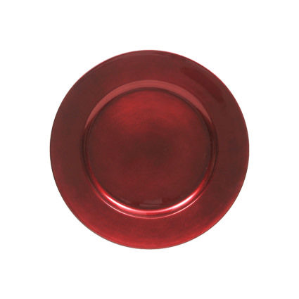 Acrylic Charger Red 13 - AC Party Rentals