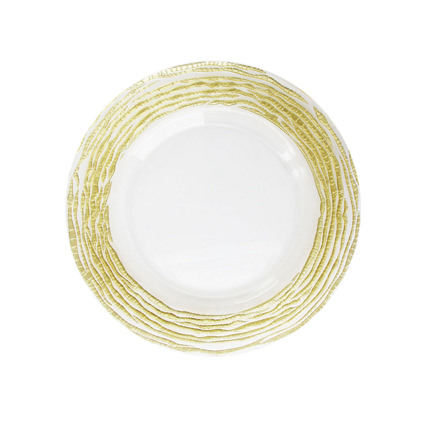 Glass Charger Gold Swirl 13 - AC Party Rentals