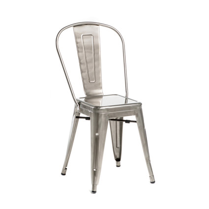 Monroe Gunmetal Chair (ALT View) - AC Party Rentals