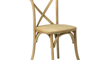 Napa Cross Back Chair (Natural) - AC Party Rentals