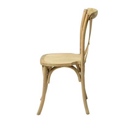 Napa Cross Back Chair (Natural) Side View - AC Party Rentals