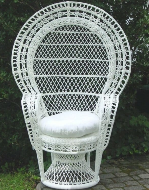 Wick Wicker Baby Shower Chair - AC Party Rental - 6093831970
